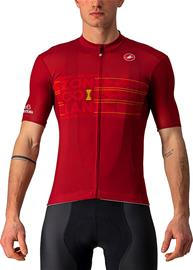 Castelli Giro d'Italia Zoncolan SS Jersey Men, garnet red/electric lime