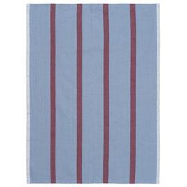 Ferm Living Hale keittiöpyyhe 50x70 cm Faded blue-burgundy
