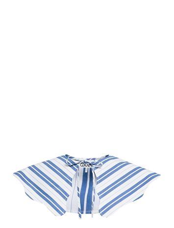 Ganni Stripe Cotton Accessories Collars Sininen Ganni DAPHNE