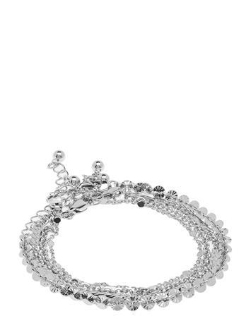 Pieces Pctona Bracelet 4-Pack Accessories Jewellery Bracelets Chain Bracelets Hopea Pieces SILVER COLOUR