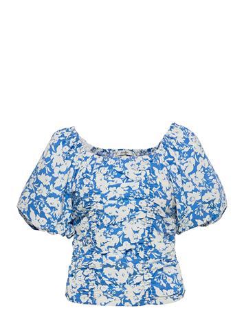 Gestuz Myntegz Blouse Blouses Short-sleeved Sininen Gestuz BLUE FLOWER