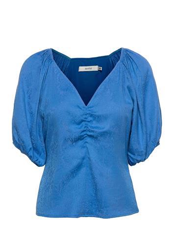 Gestuz Begoniagz Blouse Blouses Short-sleeved Sininen Gestuz FRENCH BLUE