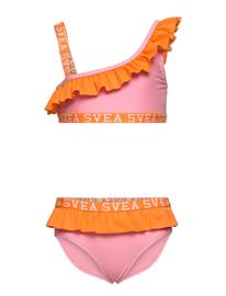 Svea K. Frilly Off Shoulder Bikini Bikinit Vaaleanpunainen Svea PINK