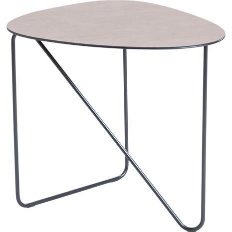 Lind DNA Curve Table 44x50x45 cm, Hippo Warm Grey / Black