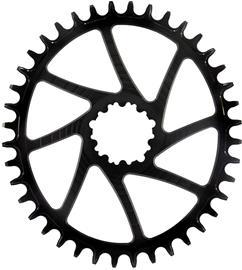 Garbaruk Chainring Oval for SRAM GXP, musta