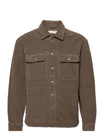 AllSaints Castleford Shirt Farkkutakki Denimtakki Ruskea AllSaints PEBBLE GREY
