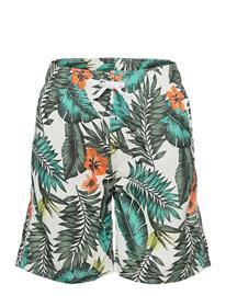 Lindex Swimshorts Bb Tropical Leaves Uimashortsit Sininen Lindex KHAKI