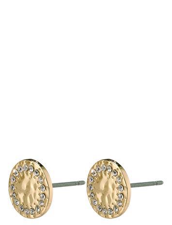 Pilgrim Earrings Compassion Gold Plated Crystal Accessories Jewellery Earrings Studs Kulta Pilgrim GOLD PLATED