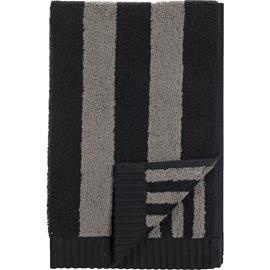Marimekko Marimekko-Kaksi Raitaa Guest Towel Grey / Black, 30x50 cm
