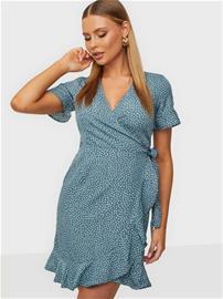 Vero Moda Vmhenna 2/4 Wrap Frill Dress Noos