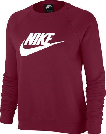 Nike naisten collegepaita NSW ESSNTL CREW FLC, viininpunainen S