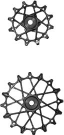 Garbaruk Rear Derailleur Pulleys 11-speed 11+12T for Standard Cage Shimano, musta