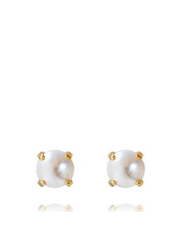 Caroline Svedbom Classic Stud Earring Gold Accessories Jewellery Earrings Studs Kulta Caroline Svedbom PEARL