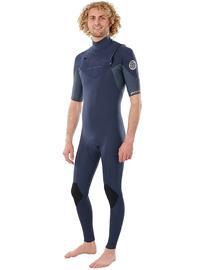 Rip Curl Dawn Patrol Perf Chest Zip 2/2 GB Eco Wetsuit slate Miehet