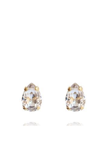 Caroline Svedbom Petite Drop Stud Earring Gold Accessories Jewellery Earrings Studs Kulta Caroline Svedbom CRYSTAL