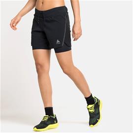 """Odlo Axalp Trail W Shorts 6"""" Musta M"""