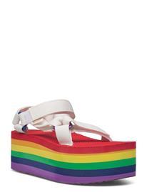 Teva W Flatform Universal Pride Kiilakorkokengät Monivärinen/Kuvioitu Teva WHITE / RAINBOW
