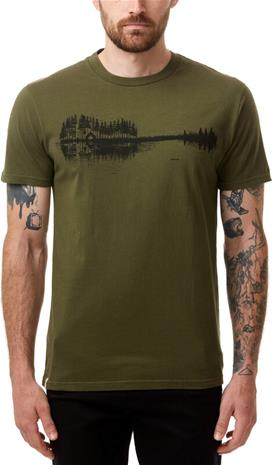 tentree Summer Guitar T-Shirt Men, oliivi