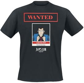 Lupin The 3rd - Wanted - T-paita - Miehet - Musta