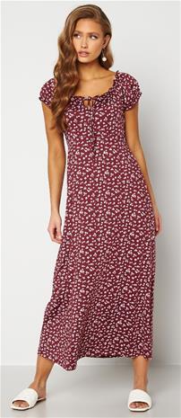 Happy Holly naisten mekko TESSIE, viininpunainen-beige 52/54