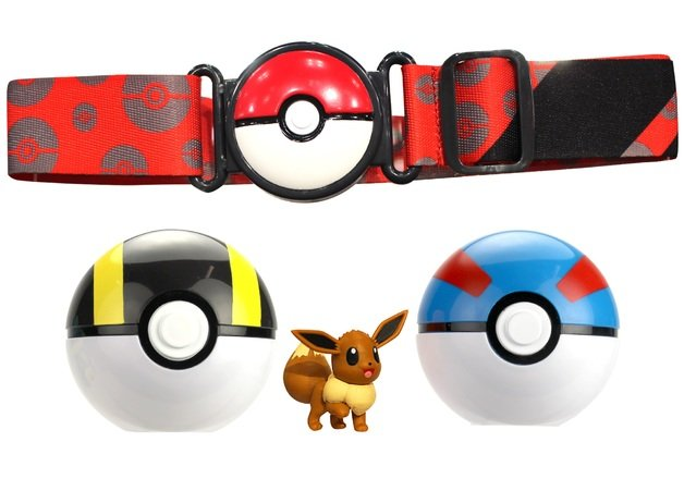 Pokemon - Clip 'N Go Poke Ball Belt - Eevee (red belt) (95283)