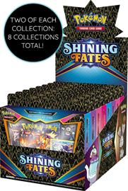 Pokemon Shining Fates Mad Party Pin Collection Display (2x Bunnelby, 2x Dedenne, 2x Galarian Mr. Rime, 2x Polteageist)