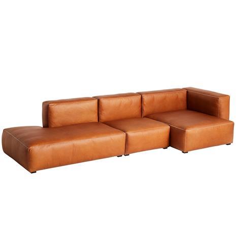 HAY Mags Soft sohva 331 cm, korkea käsinoja oikea, Silk 0250