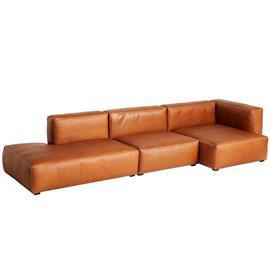 HAY Mags Soft sohva 348 cm, korkea käsinoja oikea, Silk 0250