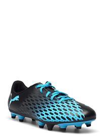 PUMA Puma Spirit Iii Fg Jr Shoes Sports Shoes Football Boots Musta PUMA LUMINOUS BLUE-PUMA BLACK