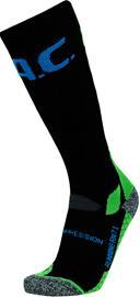 P.A.C. RN 7.1 Running Pro Compression Socks Women, musta/vihreä