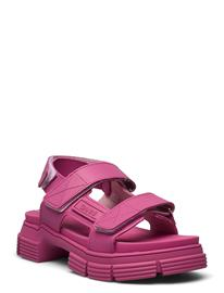 Ganni Recycled Rubber Shoes Summer Shoes Flat Sandals Vaaleanpunainen Ganni SHOCKING PINK