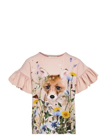 Molo Rayah T-shirts Short-sleeved Vaaleanpunainen Molo WILDFLOWER FOX