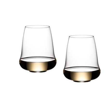 Riedel Stemless Wings jalattomat viinilasit 4 kpl Riesling/Champagne