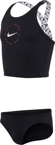 Nike Swim Logo Tape Crossback Midkini Girls, musta, Lasten uima-asut