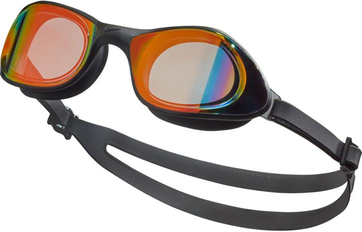 Nike Swim Expanse Mirrored Goggles, musta/oranssi