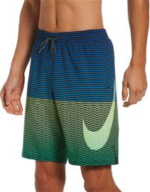 "Nike Swim Horizon Stripe 9"""" Volley Shorts Men, sininen/vihreä"