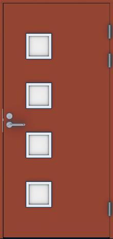 Ulko-ovi Swedoor Function F2090 W82 Tiilenpunainen