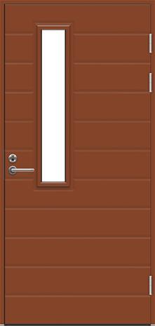 Ulko-ovi Swedoor Function F1893 W22 Tiilenpunainen