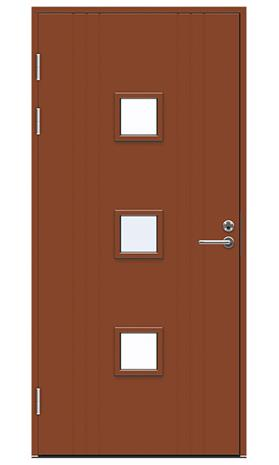 Ulko-ovi Swedoor Function F2053 W83 Tiilenpunainen