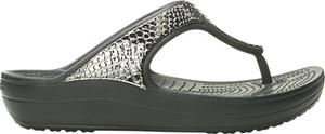 "Crocsâ""¢ naisten vapaa-ajan kengät Sloane Metal Txt Flip Women's, harmaa 36,5"