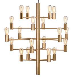 Herstal Herstal-Manola 20 Chandelier Dimmable LED, Satin Brass