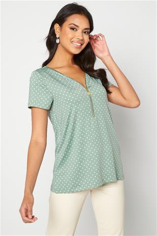 Happy Holly naisten paita CARRIE, mintunvihreä 44/46