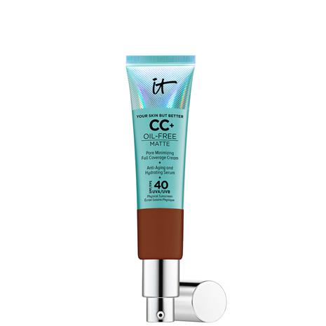 IT Cosmetics Your Skin But Better CC+ Oil-Free Matte SPF40 32ml (Various Shades) - Deep