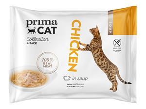 PrimaCat Soup Kananlihaa liemessä 4 x 40 g kissan täydennysrehu