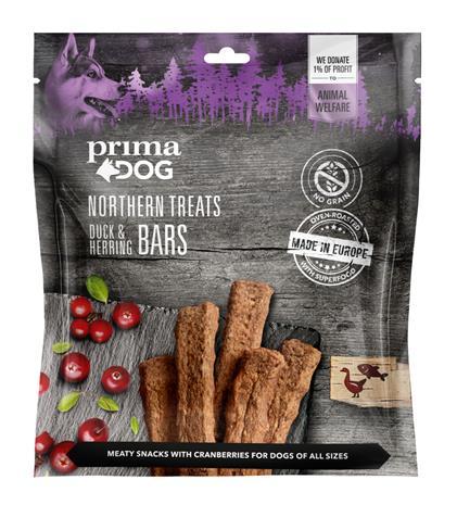 Prima Dog Northern Treats Ankka-sillitanko 200 g koiran herkku