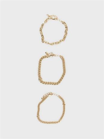Pieces Pcmop 3-Pack Bracelets D2D Gold Colour