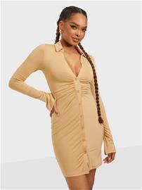 NLY One Collar Mini Dress Caramel