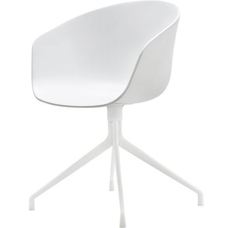 Hay Hay-AAC 20 Tuoli, Kääntöalusta Valkoinen / Valkoinen