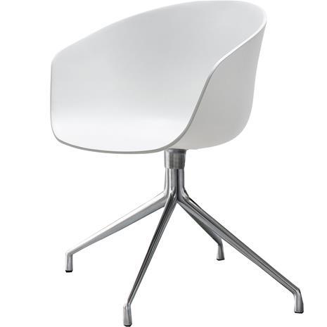 Hay Hay-AAC 20 Tuoli, Kääntöalusta Aluminium / Valkoinen