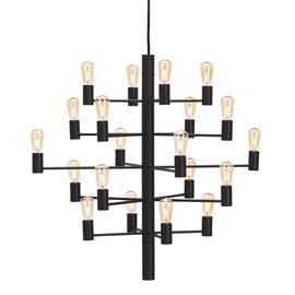 Herstal Herstal-Manola 20 Kynttilänjalka Himmentävä LED, Musta